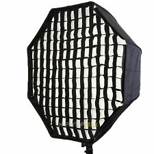"80cm 32"" Octagon Umbrella Softbox Reflector + Grid For Photo Video Studio Flash"