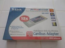 D-link AirPlus Xtreme G DWL-G650 802.11g/b Wireless Adapter - Brand New