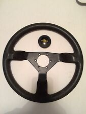 Vintage PERSONAL 365mm Steering Wheel BLACK SUEDE Grinta/Fitti/Corsa/Nardi/Race