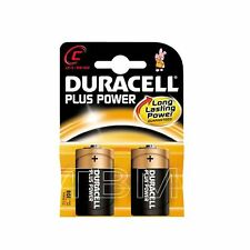 C Size Duracell Plus Power (mn1400/lr14) Long Lasting Alkaline Battery Pack Of 2