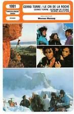 FICHE CINEMA : CERRO TORRE, LE CRI DE LA ROCHE - W.Herzog 1991 Scream of Stone