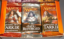 MAGIC CCG DRAGONS OF TARKIR FATE REFORGED KHANS OF TARKIR BOOSTER BOX LOT