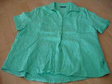 Sommer Caro Bluse Gr.XL kurzarm in sich gemustert blau/grün