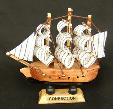Nautical Sailing Fishing Boat Miniature Model Small 3.5 inches Home Decor n15
