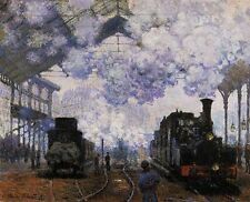 Claude Monet Arrival of a Train Oil Painting repro