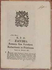 SENTENZA SACRA ROTA ROMA VEROLI FROSINONE PRINCIPE ASPRENO COLONNA LATTANZI 1835
