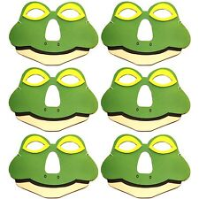 Pack of 6 Foam Frog Masks - Childrens Animal Fancy Dress