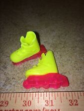 Vintage Barbie Yellow Hot Pink Roller Blades Skates Sports Outdoor Accessory