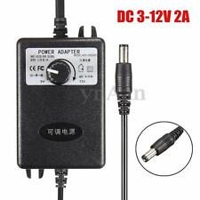 Adjustable AC/DC Adapter 3-12V 2A Power Supply Motor Speed Controller 100-240V