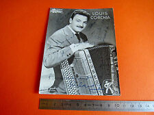 CPA ACCORDEONISTE LOUIS CORCHIA DISQUE HOLIDAY MUSICIEN 60's DEDICACES