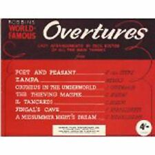 Robbins World Famous Overtures Easy Classical Piano Themes Music Book Bolton B87