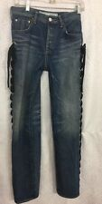 Tu Es Mon Tresor Jean Black Lace Up Side  Size 1 Long