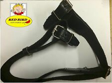 MOSIN NAGANT RIFLE HEAVY DUTY BLACK SLING BELT w/BLACK LEATHER M44 91/30 M38