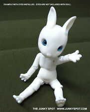 "JunkySpot Hujoo White "" NANO Rabbit ""  Bunny 12cm ABS Anthro BJD Doll USA"