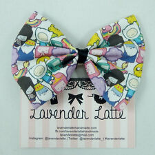 Adventure Time Character Fabric Handmade Medium Hair Bow BMO Jake Finn LSP