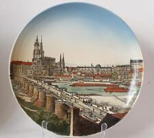 Large Antique Mettlach V&B Wall Plate/Plaque #1044 Dec.169 Dresden PUG  c.1900