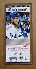 Red Wings Nicklas Lidstrom  2008 Wings Game ticket stub!