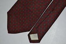BROOKS BROTHERS MAKERS RED GEOMETRIC SILK NECKTIE MENS NECK TIE TIES