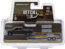 1:64 Hitch & Tow Series 5 2015 Ford F-150 and Flatbed Trailer