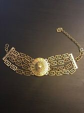 Versace For H&M Gold Choker Necklace Pendant 2011