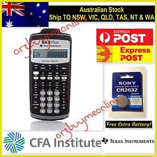 Texas Instruments TI BA II PLUS Financial Calculator For CFA Exam - *Brand New*