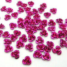 New Loose100pcs 8mm Aluminum Flowers for Embellishment Craft  Accessories Rose