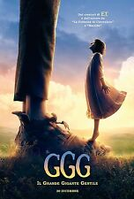 THE BFG BIG FRIENDLY GIANT GGG GRANDE GIGANTE GENTILE MANIFESTO STEVEN SPIELBERG