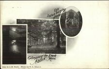 Natick MA Old Indian Burying Ground Cemetery c1905 Postcard