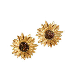 Sunflower Petit Post Earrings by Michael Michaud Silver Seasons  #4979BZBD
