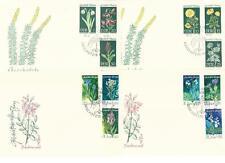 DDR FDC + Marken aus 1969+1970 MiNr.1456-1461, 1563-1568 - Pflanzen!