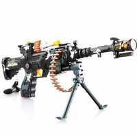 Combat 3 Commando Machine Gun toy Army Pistol With Sound and lights for kids