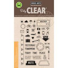 Hero Arts 4x6 Clear Stamp My Week CL849 Planner Calendar