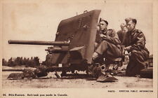 Postcard Military WWII Blitz Busters Anti Tank Gun Made Canada