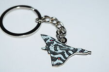 Vulcan Bomber Keyring Gift Enamel AVRO / Bag WW11 Aeroplane Aviation Grey
