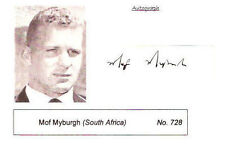 MOF MYBURGH SOUTH AFRICA SIGNED RUGBY PHOTO CARD