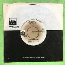 Rosetta Stone - Sunshine Of Your Love / Steal Willie - Private Stock PVT-118 Ex