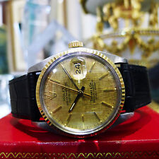 Mens Vintage 1978 ROLEX Datejust 16013 TIFFANY &  CO Dial Steel & Gold Watch