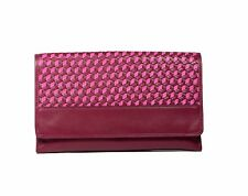 Cole Haan Parker Weave Envelope Clutch Bag Genuine Leather Winery/Orchid