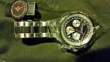 Stuhrling Original Men's 669B.01 Monaco Date Stainless Steel Link Bracelet Watch