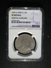 1895 South Africa 2 1/2  Shillings NGC XF Details - Surface Hairlines
