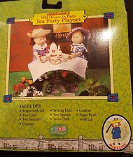 "NEW MADELINE DOLL 8"" TEA PARTY PLAY SET TEAPOT CUPS SAUCER CUTLERY COOKIES GINNY"