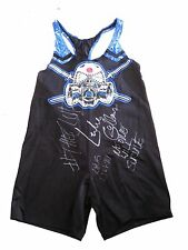 WWE LUKE GALLOWS RING WORN HAND SIGNED THE CLUB SINGLET WITH PICTURE PROOF COA 2