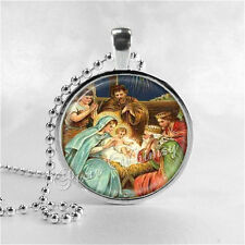 NATIVITY Necklace, Vintage Christmas Nativity, Christmas Necklace, Christmas