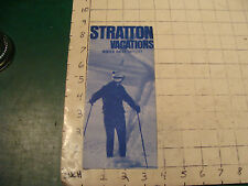 High Grade SKI Brochure:1971 STRATTON VACATIONS, winter rates 71-72, VERMONT
