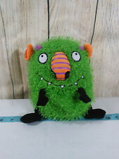 "Hallmark Snot So Scary Green Shaggy Monster Plush Stuffed Toy 7"" No Sound"