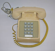 WESTERN ELECTRIC AT&T PUSH BUTTON CORDED PHONE model 2500MMG/ BEIGE/ works great