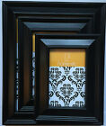 """BLACK Colour Modern Picture/Photo Frames-Poster Sizes to choose 6x4"""" 7x5 8x10 A4"""