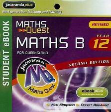 Maths Quest Maths B Year 12 for Queensland 2E Revised eBookPLUS (Registration Ca