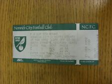 15/02/1992 Ticket: Norwich City v Notts County [FA Cup] Visitors Complimentary (