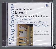 LOUIS ANTOINE DORNEL CD NEW PIECES D'ORGUES & SYMPHONIES / GILLES HARLE